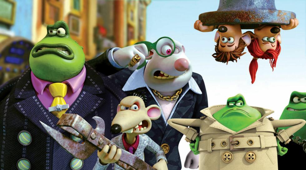 SKIKKELIGE ØSTKANTROTTER: Kloakkrottene lager krøll for våre helter. Foto: DreamWorks