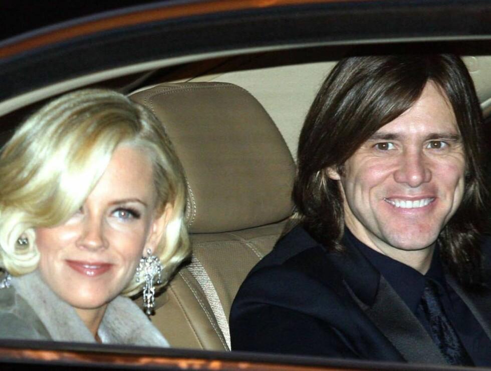 IKKE BRYLLUP: Jenny McCarthy og Jim Carrey kommer ikke til å gifte seg.. Foto: All Over Press