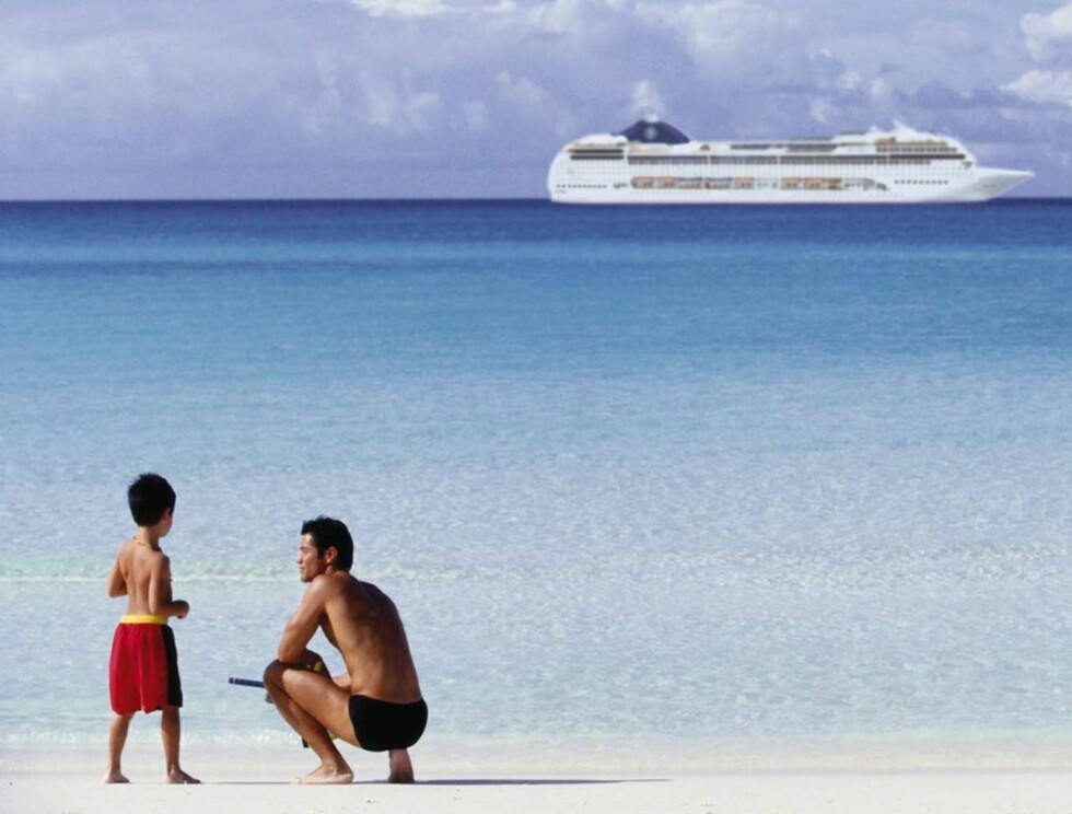 STORE SKIP: Cruiseskip er som regel ganske synlige når de seiler forbi. Foto: MSC Cruises