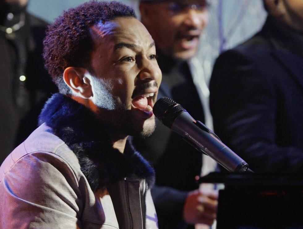 NORGESVENN: John Legend gleder seg til dagens konsert i Norge. Foto: AP