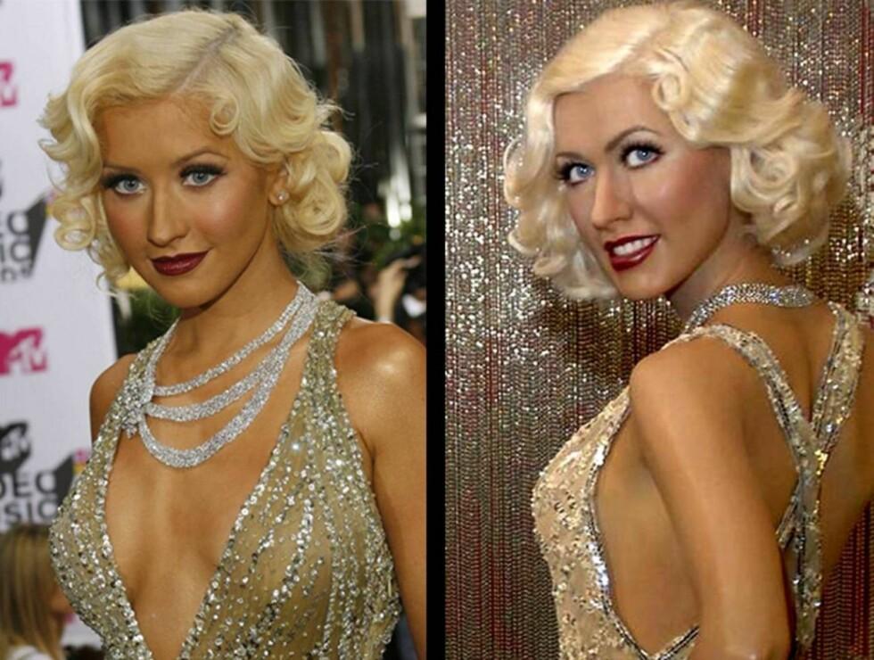 LIKE: Klarer du å se hvem av disse to skjønnhetene som er laget av voks?