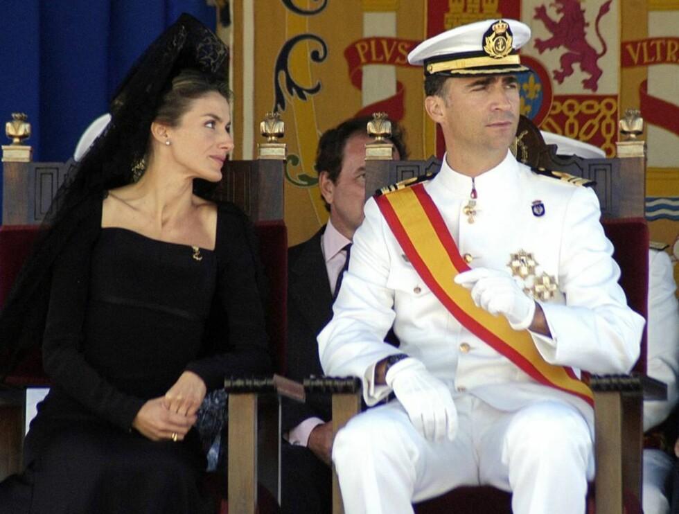 SIKRER ARVEFØLGEN: Letizia og Felipe venter en datter, dermed blir det ingen endringer i arvefølgen. Foto: Stella Pictures