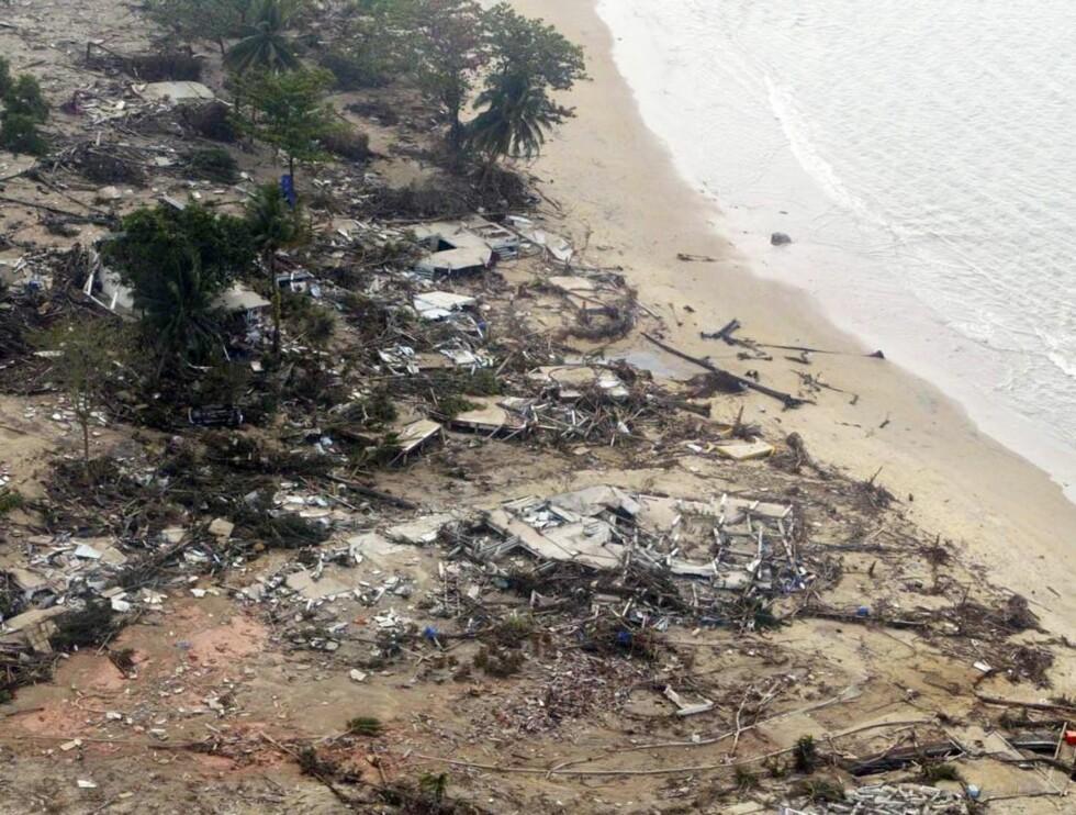 ETTER TSUNAMIEN: Khao Lak i ruiner.. Foto: All Over Press