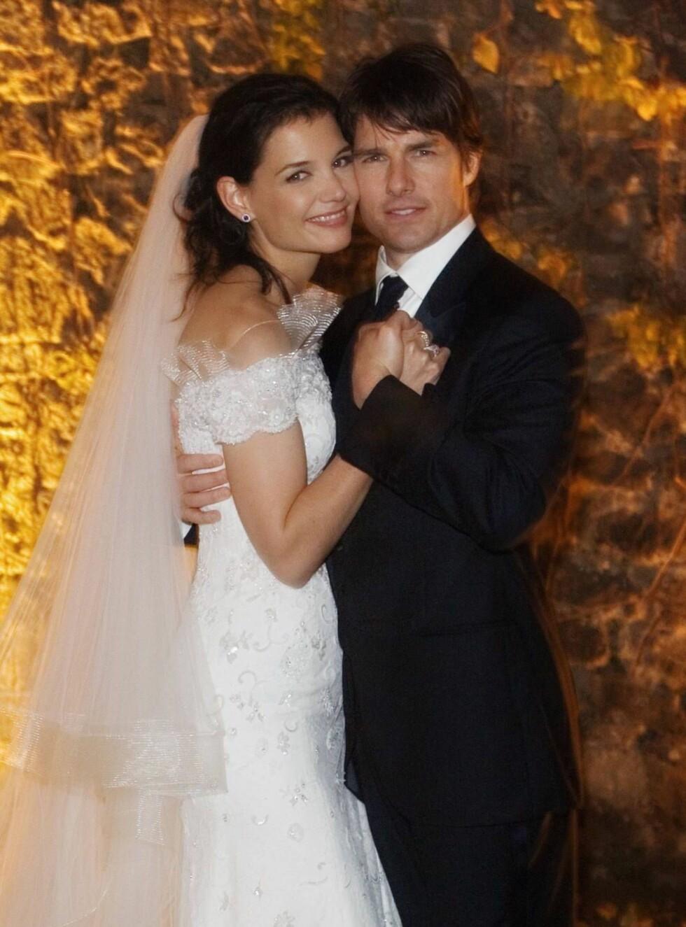 ENDELIG GIFT: Det ble et vakkert bryllup for TomKat i slottet Odescalchi i Italia for to uker siden. Foto: All Over Press