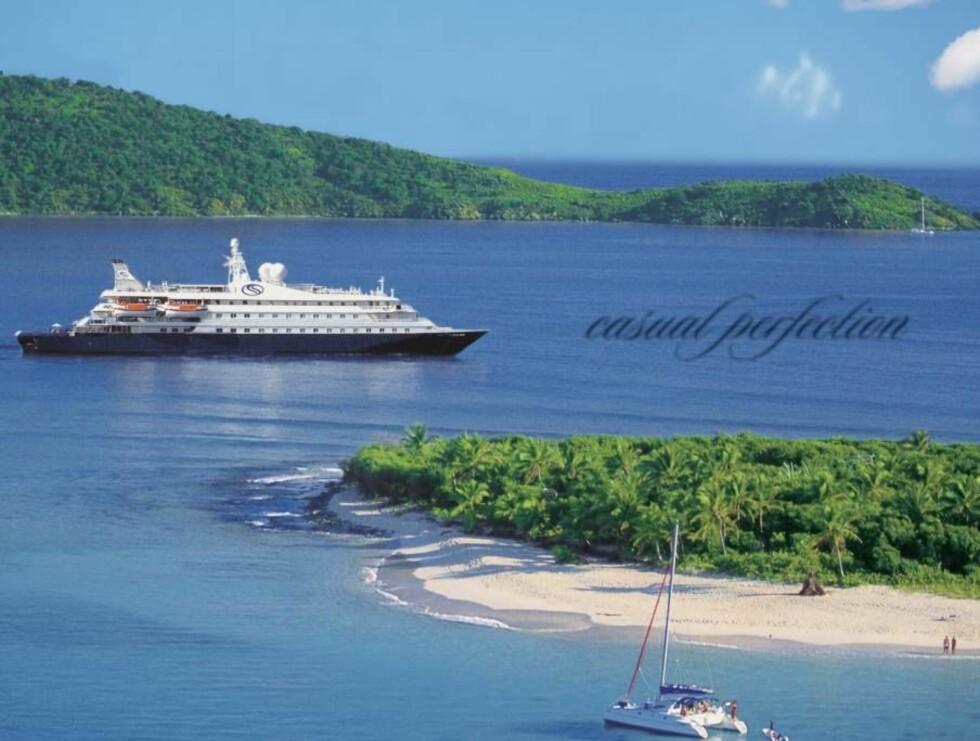 VERDENS BESTE CRUISE: SeaDream Yacht Club er havets verdensmester. Ingen andre skip kan by på samme luksus og service som de norskeide fartøyene.
