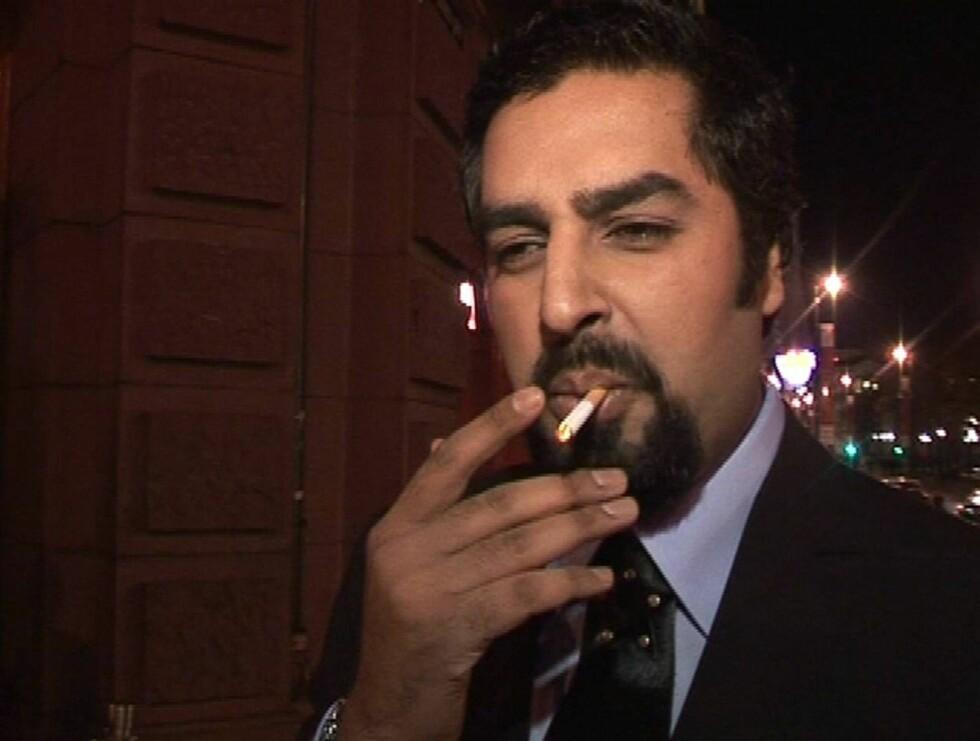 NERVØS: Det var en tydelig spent Zahid Ali Seher.no møtte premierekvelden. Foto: Stine Holme