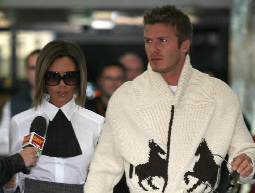 UBUDNE GJESTER: Ekteparet Beckham fikk testet sikkerhetsutstyret sitt da tre japanske fans tok seg inn på eiendommen. Foto: All Over Press