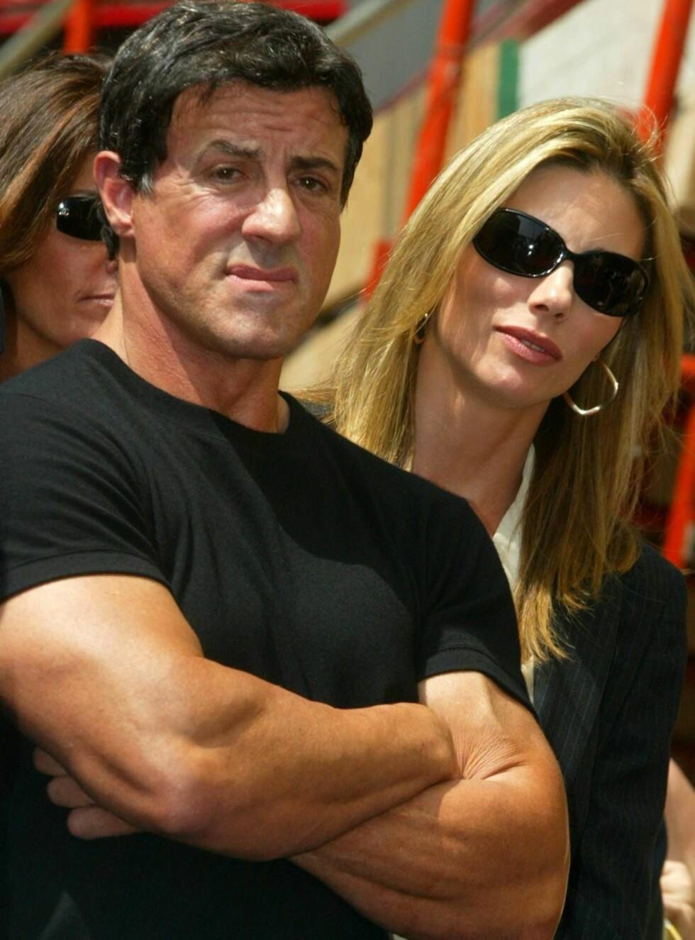 SØLIBAT: Innspillingen av Rocky 6 har ført til lite sengekos for Sylvester Stallone og kona Jennifer Flavin. Foto: All Over Press