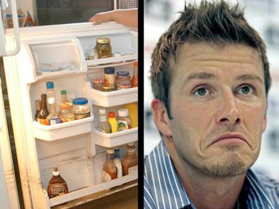 Fotballhelten David Beckham er livredd for uorden. Ifølge ham selv må skjortene i skapet være sortert etter samme farge - og ifølge kona Victoria blir han helt satt ut hvis det er rot i kjøleskapet! Foto: AP/Scanpix