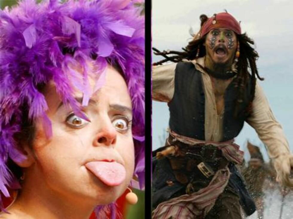 Skuespilleren Johnny Depp legger på sprang når han ser klovner. Og når han ser edderkopper og spøkelser (!). Foto: AP/Scanpix