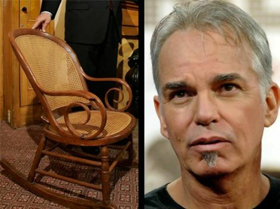 """""""Bad Santa""""-stjernen Billy Bob Thornton har mangt å si om gamle ting; - Jeg hater dem! Jeg klarer ikke en gang å bo på et hotell med gamle møbler. Det er min fobi, sier han. Foto: AP/Scanpix"""
