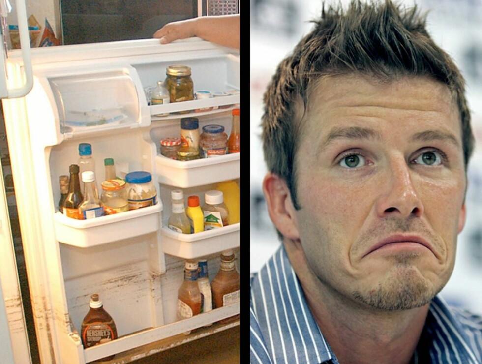 FOBI: David Beckham blir nervøs når ting er i uorden. Dette gjelder spesielt for kles- og kjøleskapet. Foto: AP/Scanpix