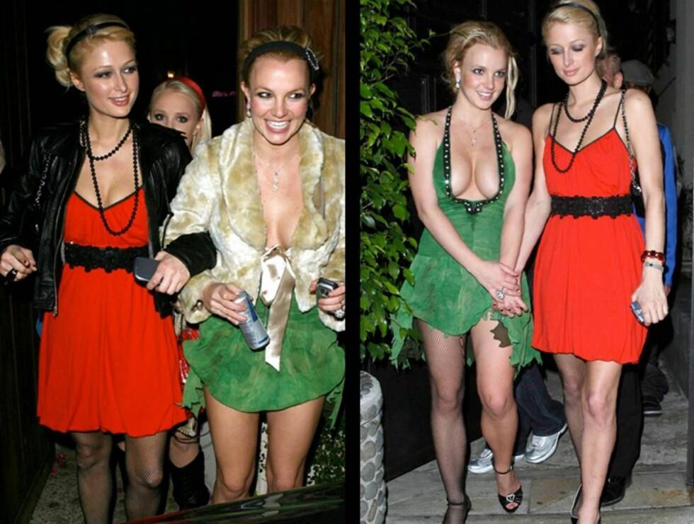 STRØMPE ELLER IKKE?: Var det Britneys misunnelse som fikk Paris til å gi bort sin ene nettingstrømpe?