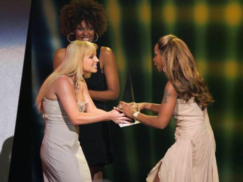 Britney Spears og Mary J. Blige. Foto: All Over Press