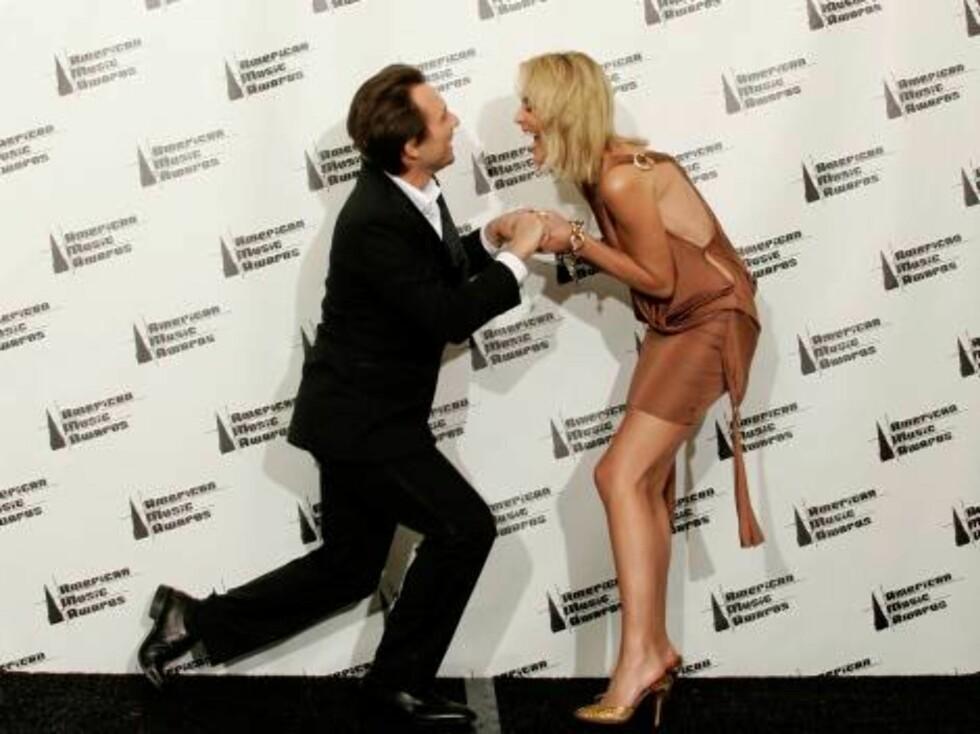 Lattermilde Sharon Stone og Christian Slater. Foto: All Over Press