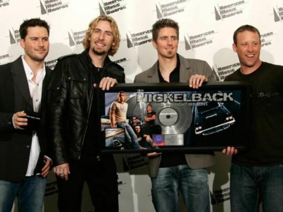 Hitmakerne Nickelback. Foto: All Over Press