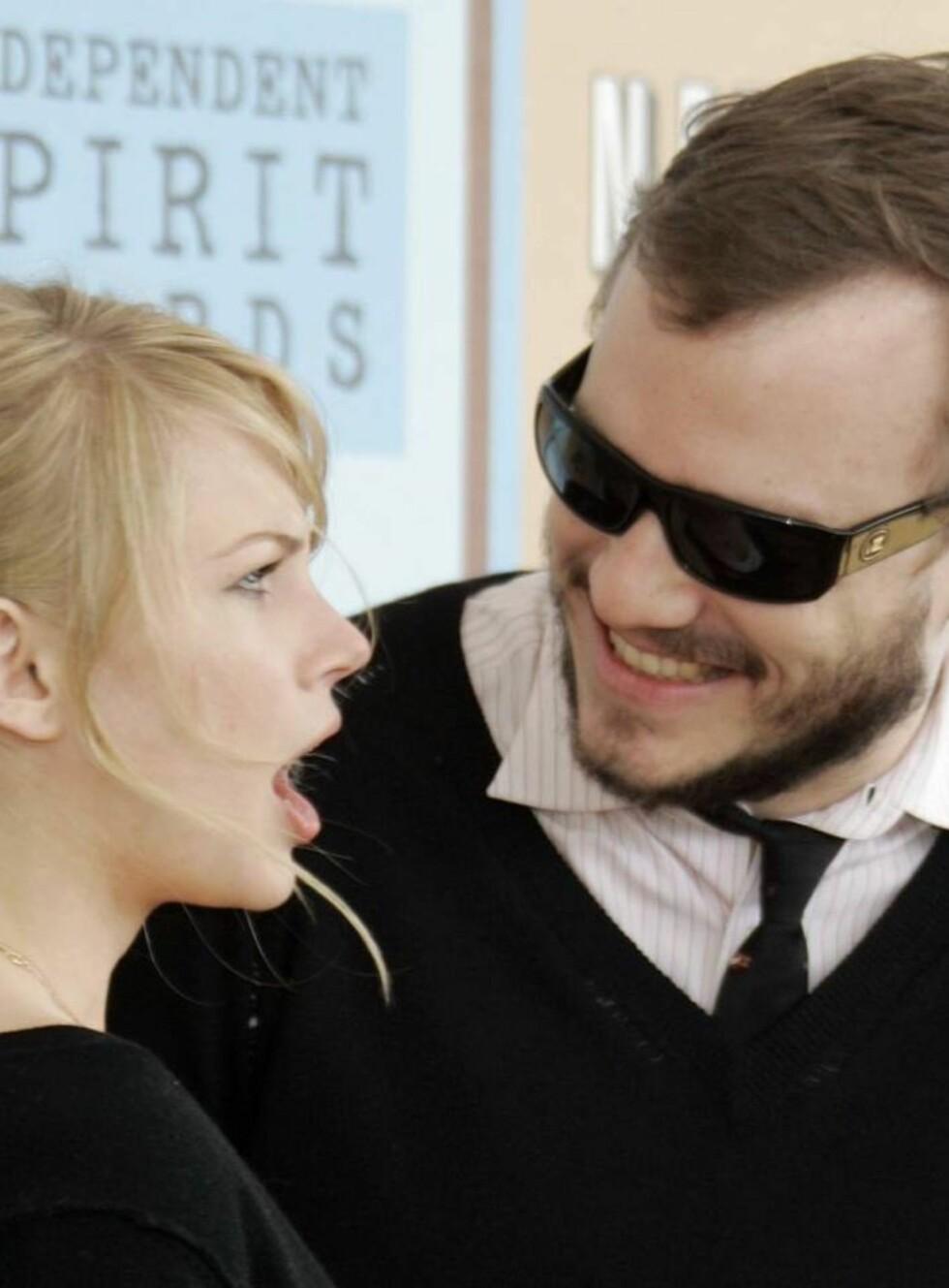 """SAMMEN: Heath og Michelle møttes under innspillingen av """"Brokeback Mountain"""". Foto: AP/Scanpix"""