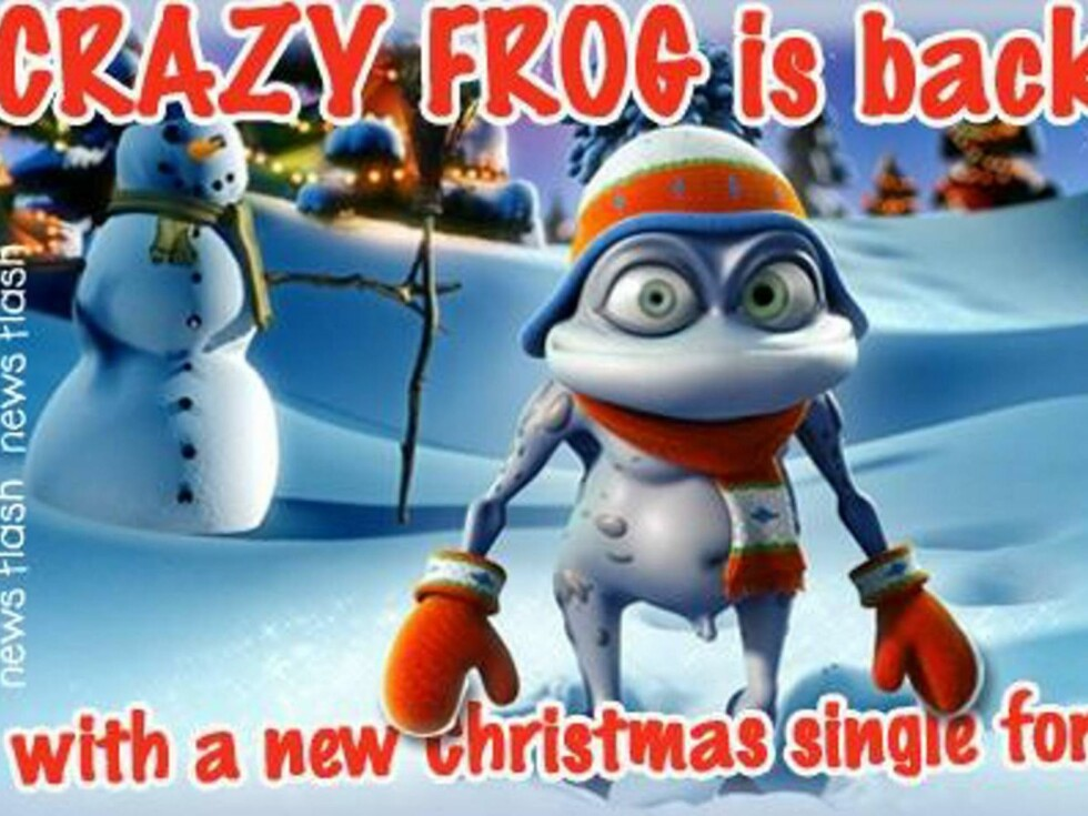 HJELP: På Crazy Frogs hjemmesider er alt klart for jul ... Foto: www.crazyfroghits.com