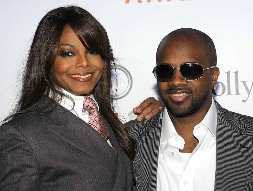 SAMMEN: Janet har vært sammen med Jermaine Dupri i en årrekke. Var det disse to som satte i gang på ruteflyet? Foto: AP/Scanpix