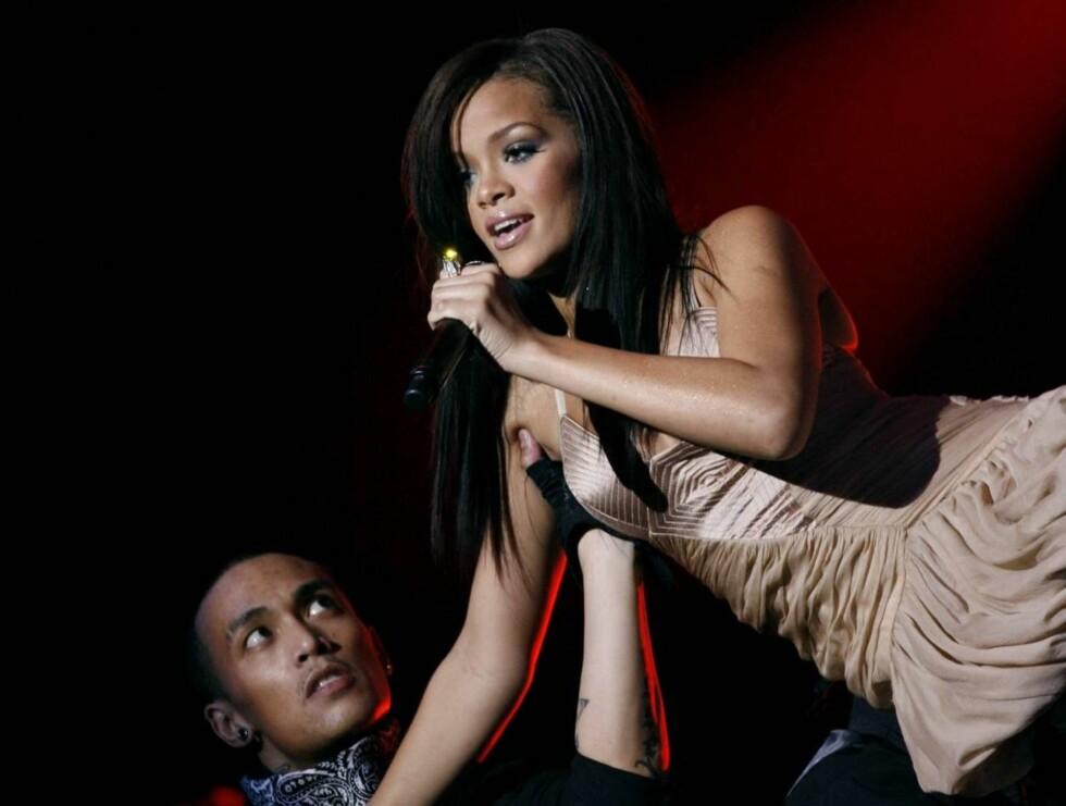 """SEXY: Rihanna høstet stor applaus etter å ha fremført to av sine største hits; """"SOS"""" og """"Unfaithful"""". Foto: SCANPIX"""