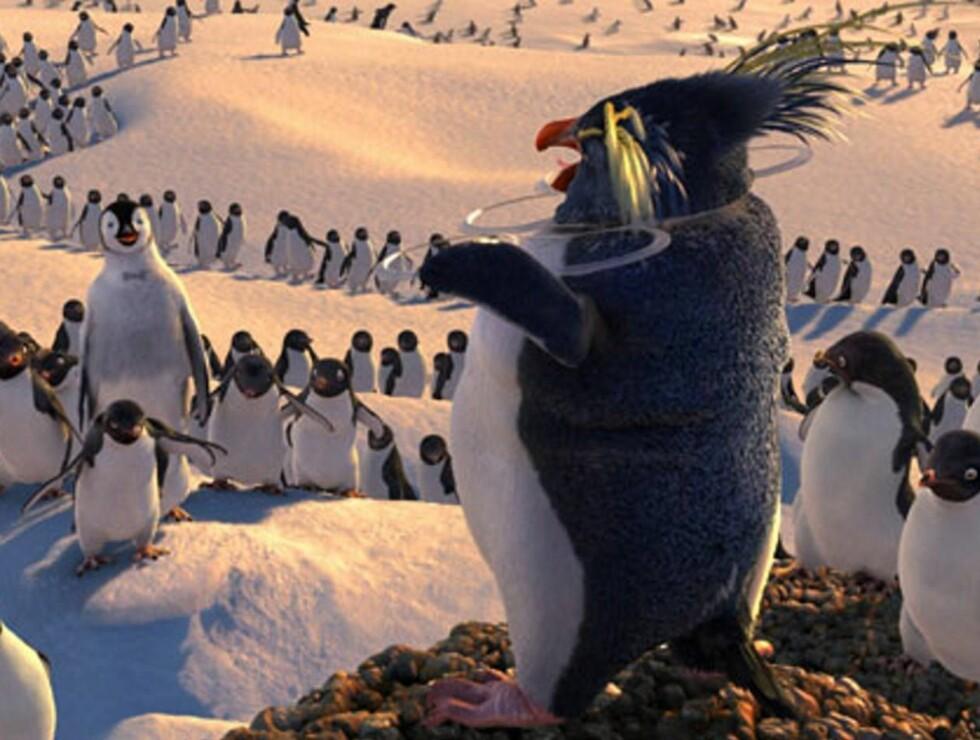 POPULÆRE: Pingvinene i Happy Feet gjør suksess i USA. Foto: filmweb