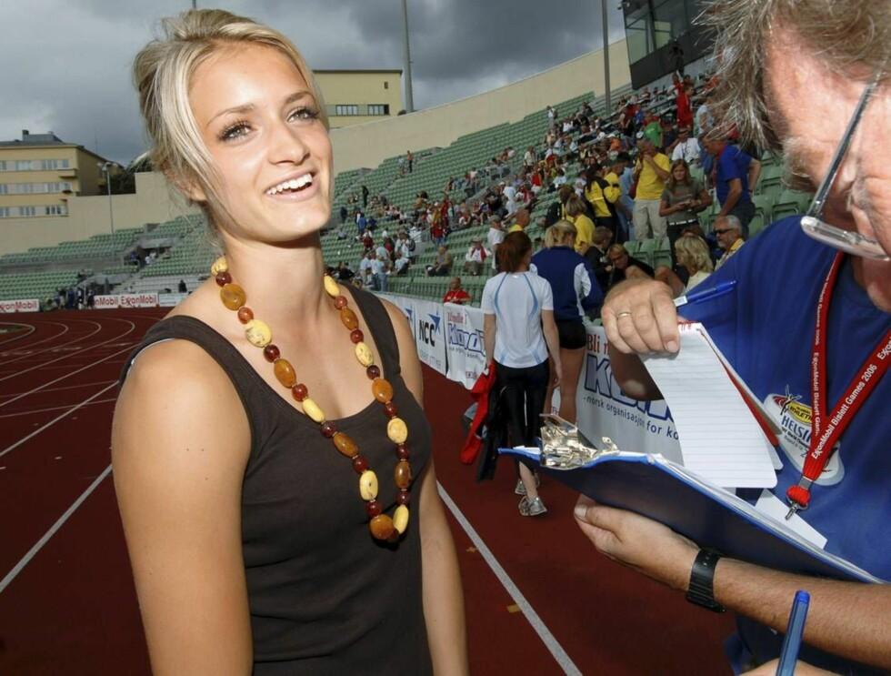 VAKKER: Christina Vukicevic har vunnet både gull og kjærlighet på friidrettsbanen. Foto: Erlend Haugen