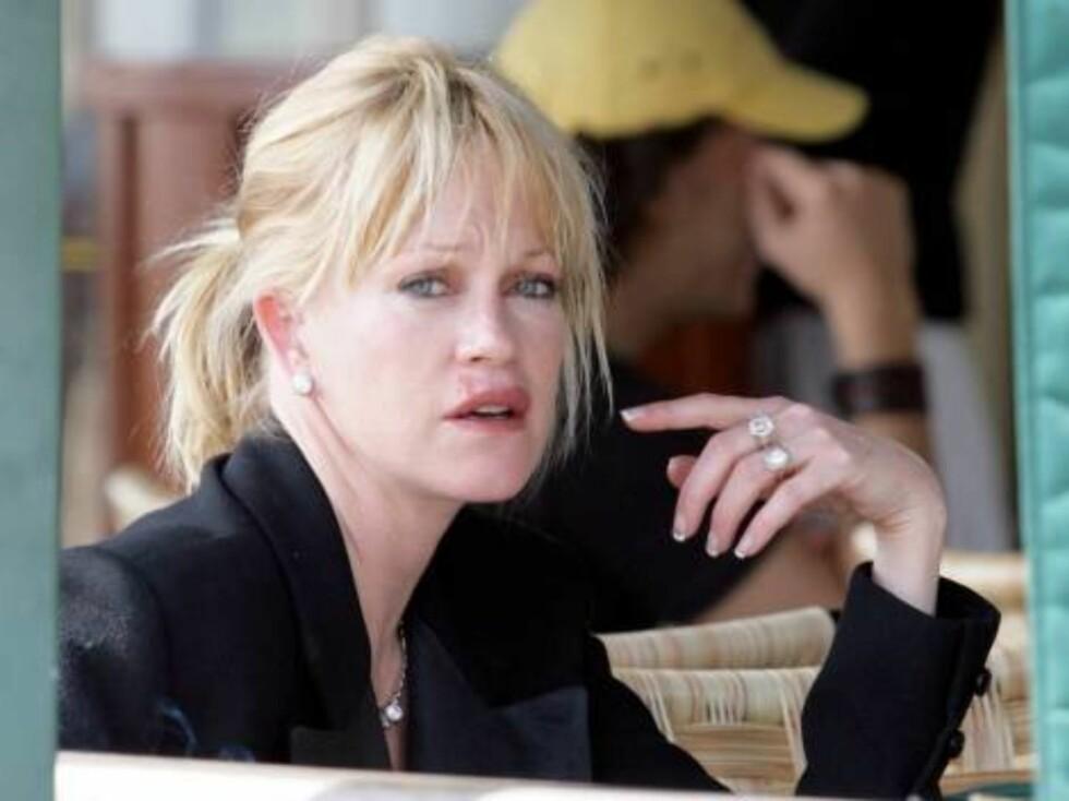 INNLAGT: Hollywood-skuespillerinnen Melanie Griffith innlagt på rehab igjen. Foto: All Over Press