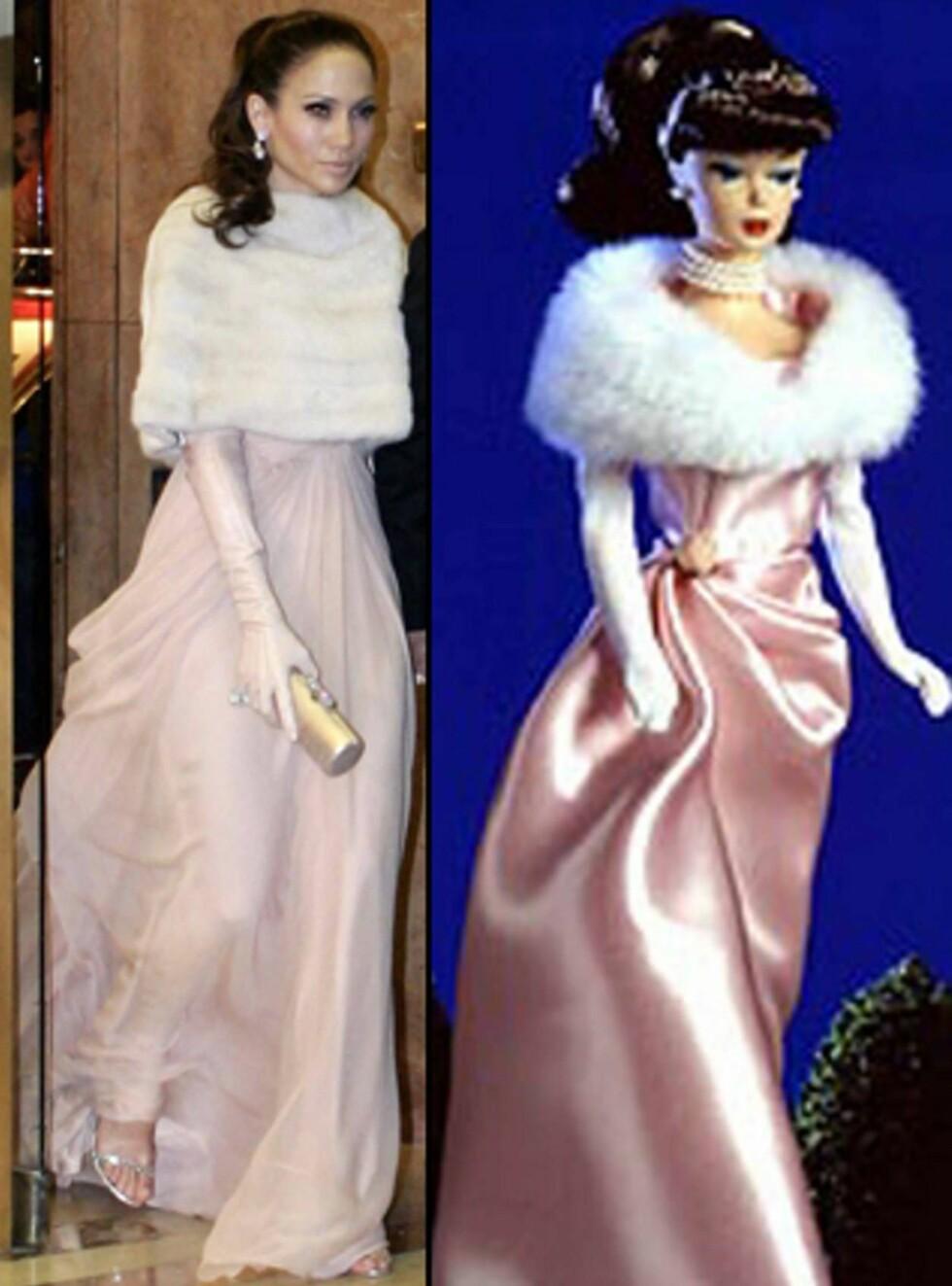 """LIKE: Klarer du å se hvem av disse to skjønnhetene som  føler seg om """"Jenny from the block""""? Foto: AP/Scanpix"""