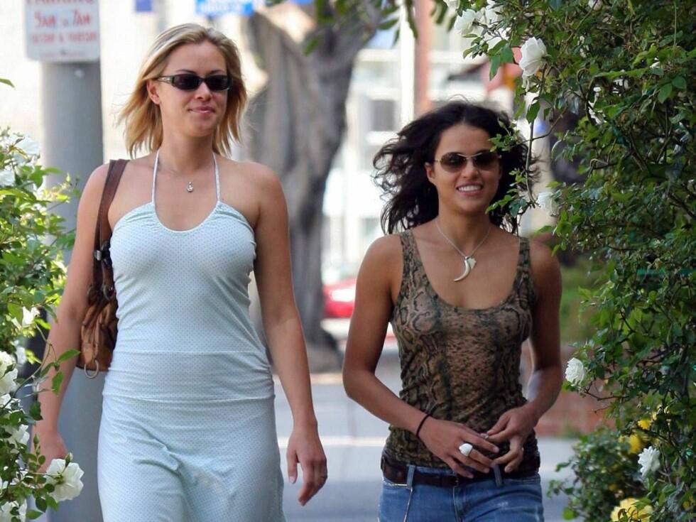 SAMMEN: - Jeg vet ikke en gang hvordan jeg skal svare på dette, smiler Kristianna på spørsmål om hun og Michelle er sammen. Foto: All Over Press