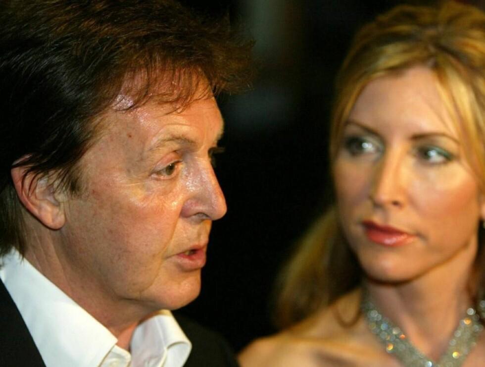 BITTER STRID: Paul McCartney og Heather Mills.. Foto: Scanpix/All over