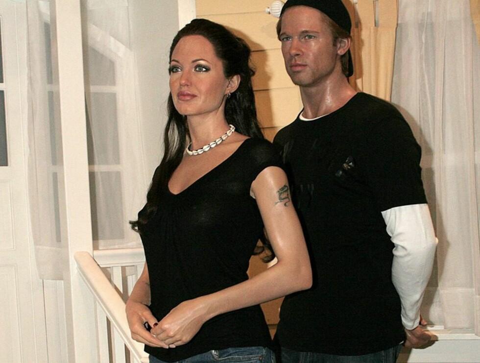 STRIDENS KJERNE: Madame Tussauds-museet vil arrangere bryllup mellom disse to voksfigurene. Foto: FAME PICTURES