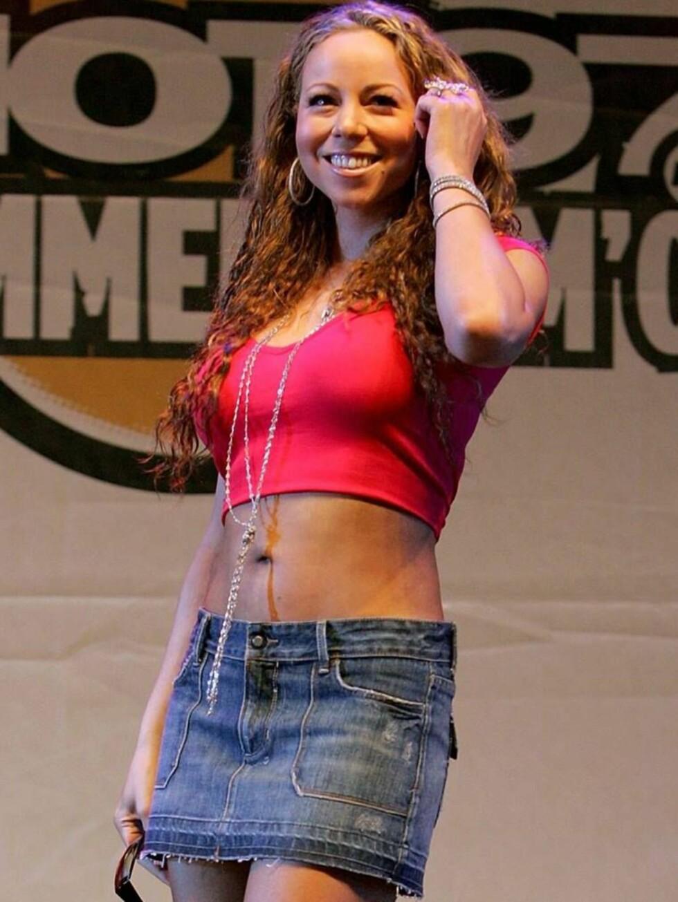 SOMMERKLEDD: Nå som vinteren er på gang, kunne nok Mariah trengt en god og varm pelskåpe... Foto: All Over Press