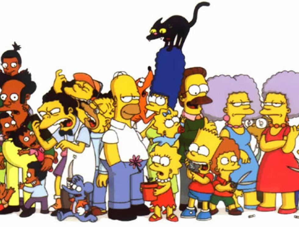 FAMILIELYKKE: Simpsons-familien er ikke så dysfunksjonelle som mange tror.
