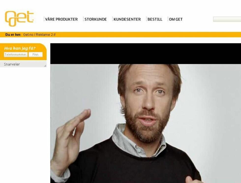 MONOLOG: Thomas Giertsen skal fortelle nordmenn hva digital-tv er i Gets nye reklamefilmer. Foto: Get.no
