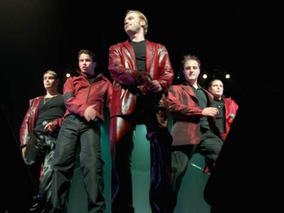 """Boyzone - Baby Can I Hold You """"Tracey Chapmans hit fra 1988, som Ronan Keating og vennene ga en tur i boybandmaskinen i 1998. Det ble fælt!""""  Foto: AP/Scanpix"""