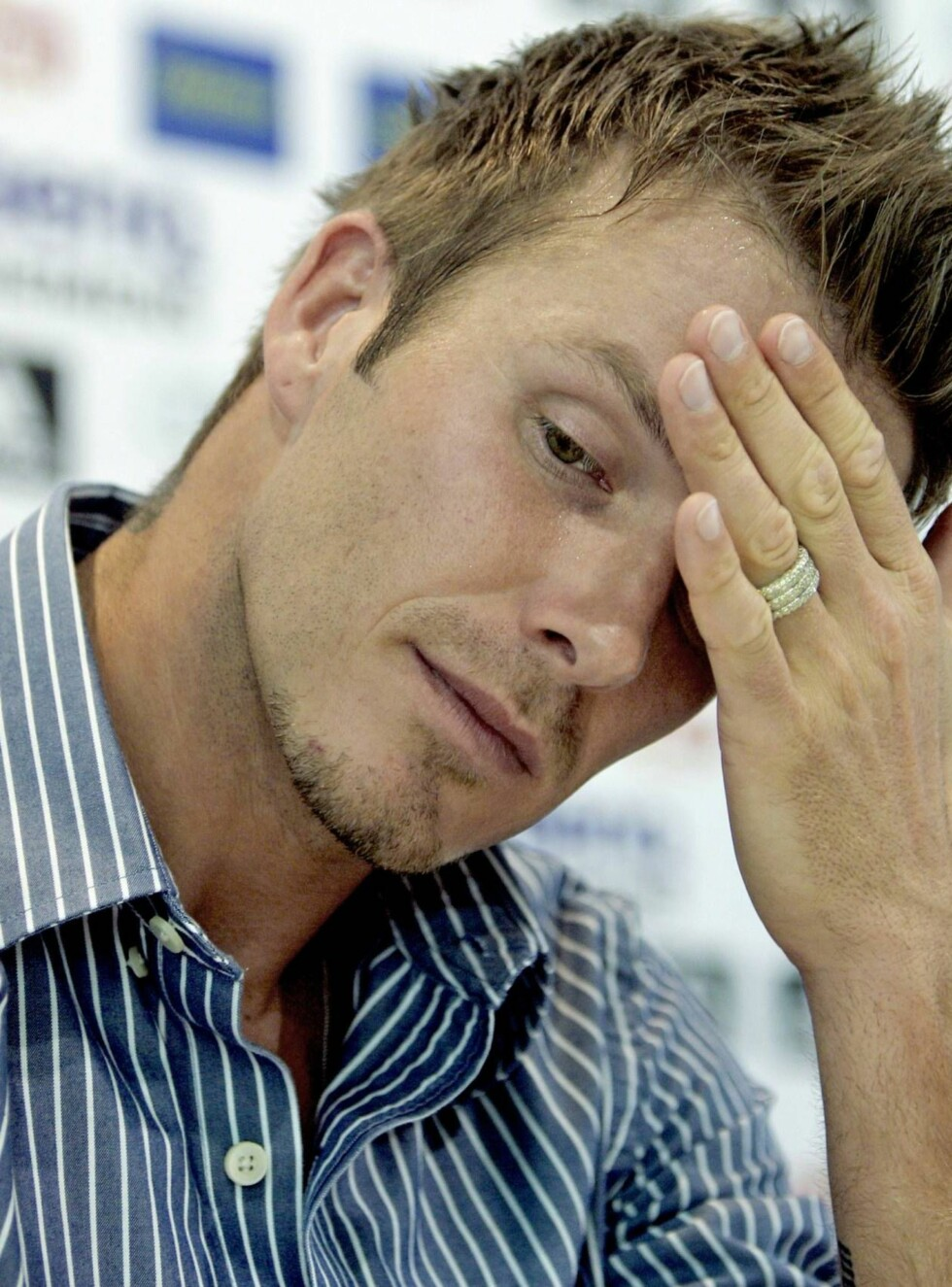 KNUST: David fortviler over sønnens alvorlige diagnose. Foto: AP/Scanpix