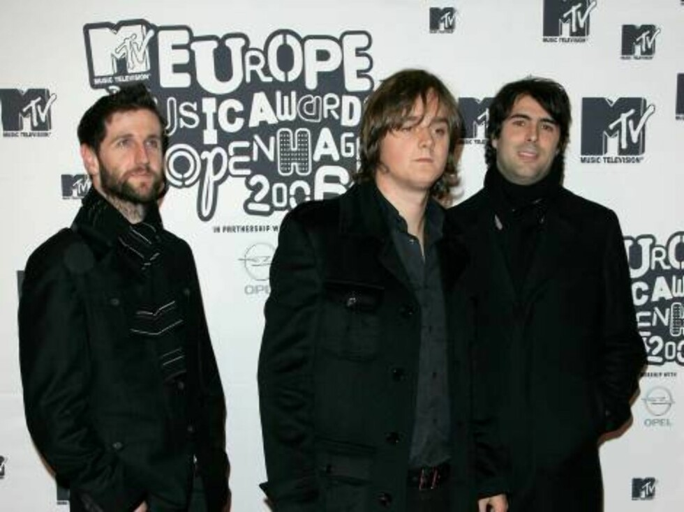 COPENHAGEN, DENMARK - NOVEMBER 02:   Richard Hughes, Tom Chaplin and Tim Rice-Oxley of Keane arrive at the 13th annual MTV Europe Music Awards 2006 at the Bella Center on November 2, 2006 in Copenhagen, Denmark.  (Photo by Gareth Cattermole/Getty Images f Foto: All Over Press