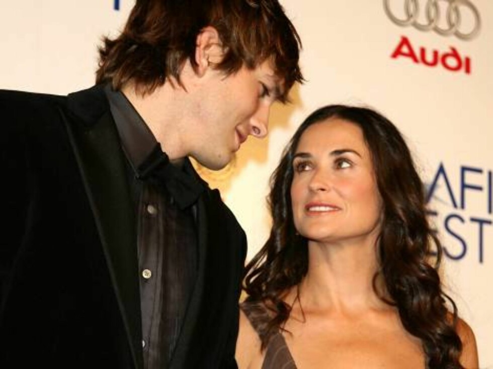 Skuespillerparet Ashton Kutcher og Demi Moore. Foto: AP/Scanpix