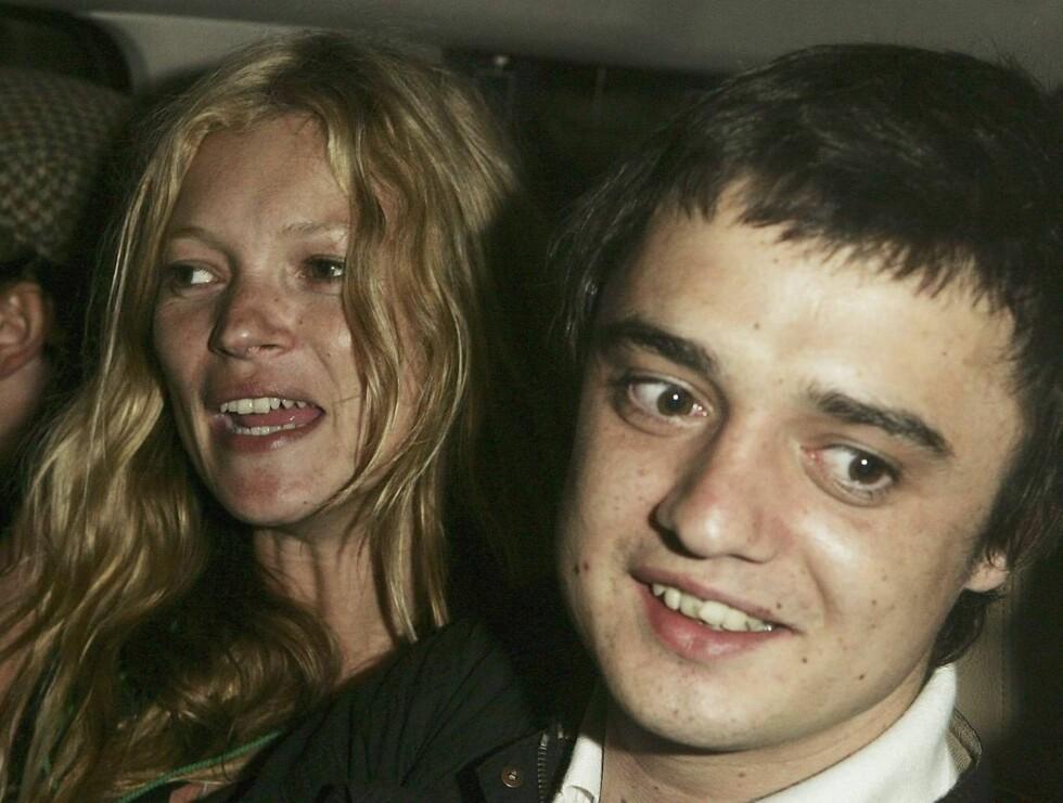 SKANDALER: Kate Moss og forloveden Pete Doherty vet å provosere ... Foto: All Over Press