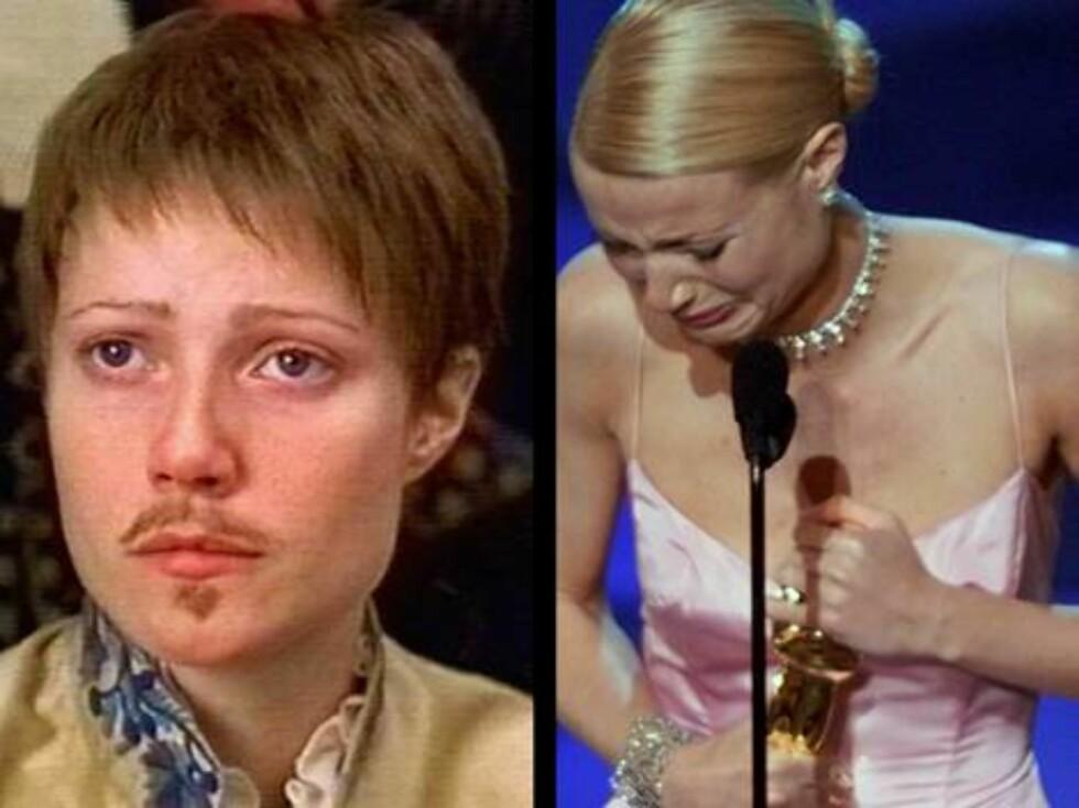 Gwyneth vant en Oscar for innsatsen i Shakespeare In Love. Samme år forlot kjæresten Ben Affleck henne ... Foto: Scanpix/Filmweb
