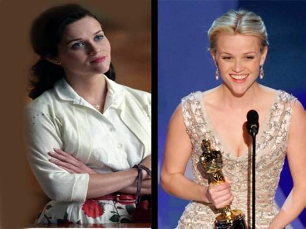 Reese Witherspoon fikk Oscar for innsatsen som June Carter i Walk The Line. Nå skal hun skilles fra skuespilleren Ryan Phillippe. Foto: Scanpix/Filmweb