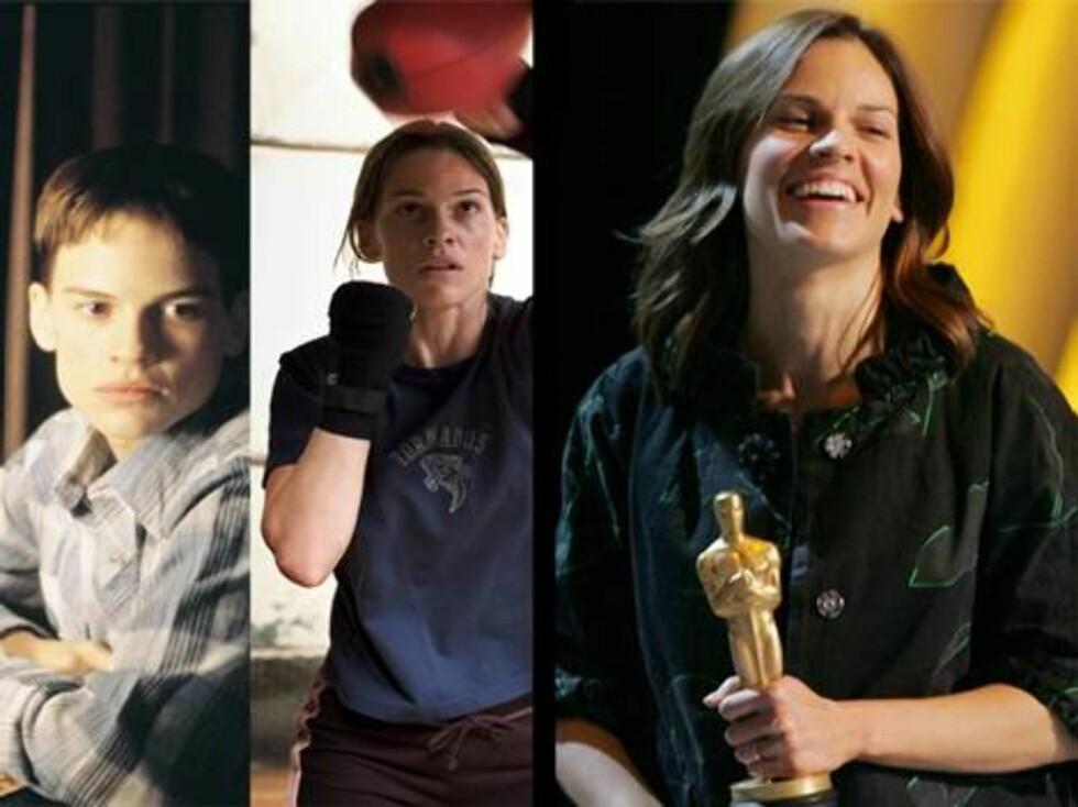 Hilary Swank har vunnet to Oscar-priser: En for Boys Don't Cry, og en for Million Dollar Baby. Nå er hun skilt fra skuespilleren Chad Lowe. Foto: Scanpix/Filmweb