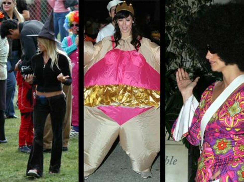 PÅ FEST: Pamela Anderson, Jennifer Love Hewitt og Penelope Cruz. Foto: stella, X17