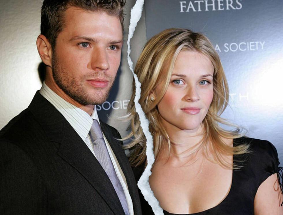 BRUDD: Reese og Ryan har vært gift siden sommeren 1999.