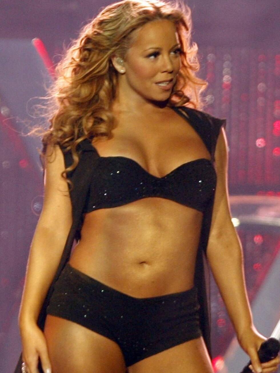 SEXY: Mariah Carey er ikke redd for å vise at hun er kvinne. Foto: AP