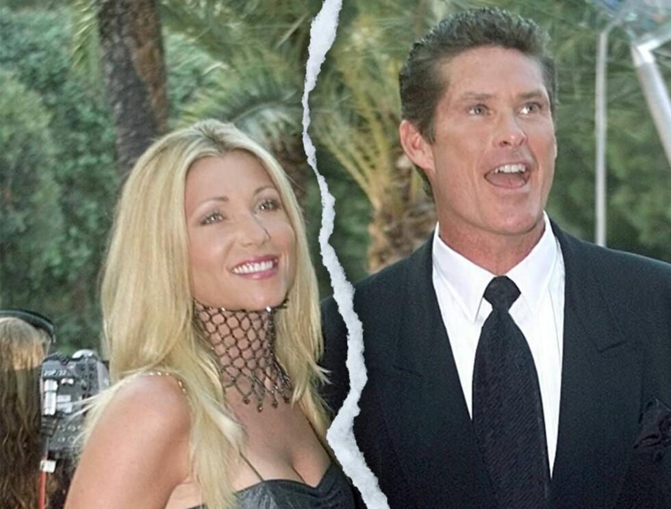 FULL KRIG: Pamela Bach og David Hasselhoff krangler så busta fyker under forberedelsene til skilsmissen. Foto: All Over Press