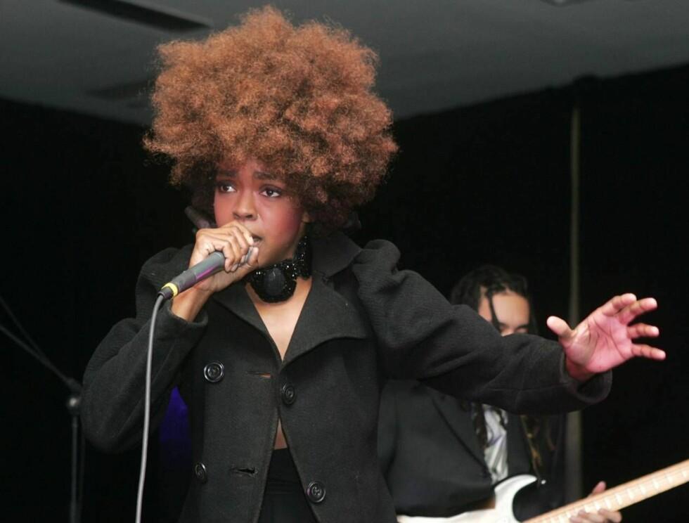 HÅR: Det var med en gedigen sveis Lauryn Hill fremførte noen av sine største hits. Foto: All Over PRess