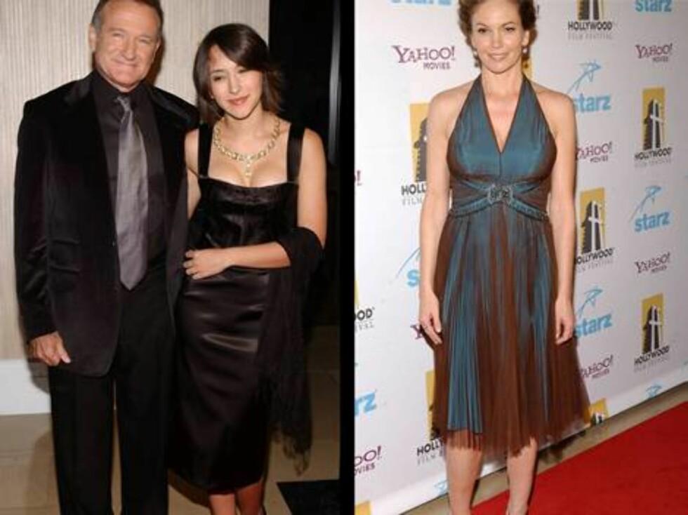 MOROMANN: Robin Williams spøkte med damene, mens skuespillerkollega Diane Lane var mest opptatt av å vise fram klærne... Foto: Stella