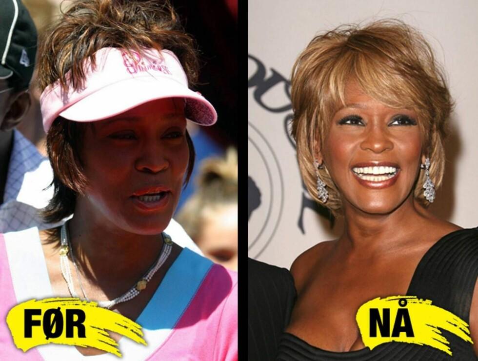 LANGT NEDE: Whitney har forandret seg dramatisk på to år...