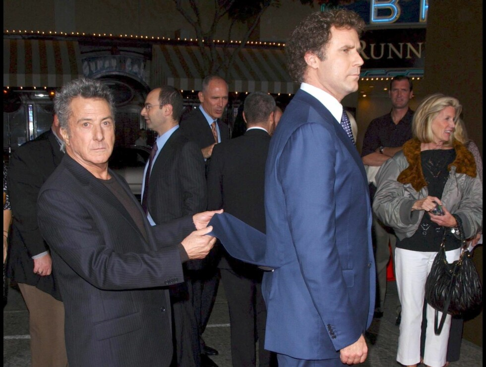 TOK TAK: Dustin Hoffman elsker å fleipe med vennene sine. Det fikk Will Ferrell merke. Foto: STELLA PICTURES
